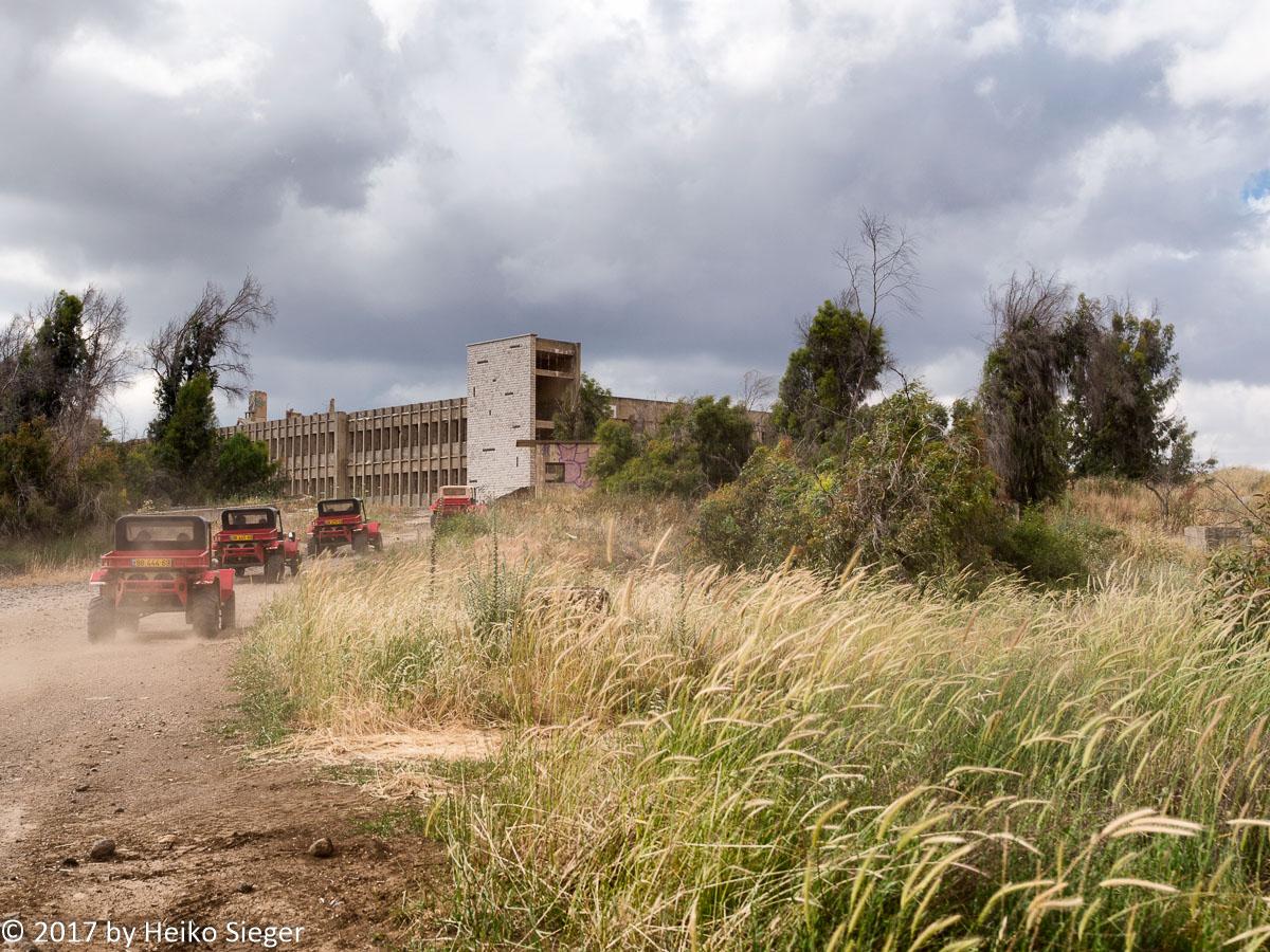 Ehemaliges syrisches Hauptquartier in den Golanhöhen