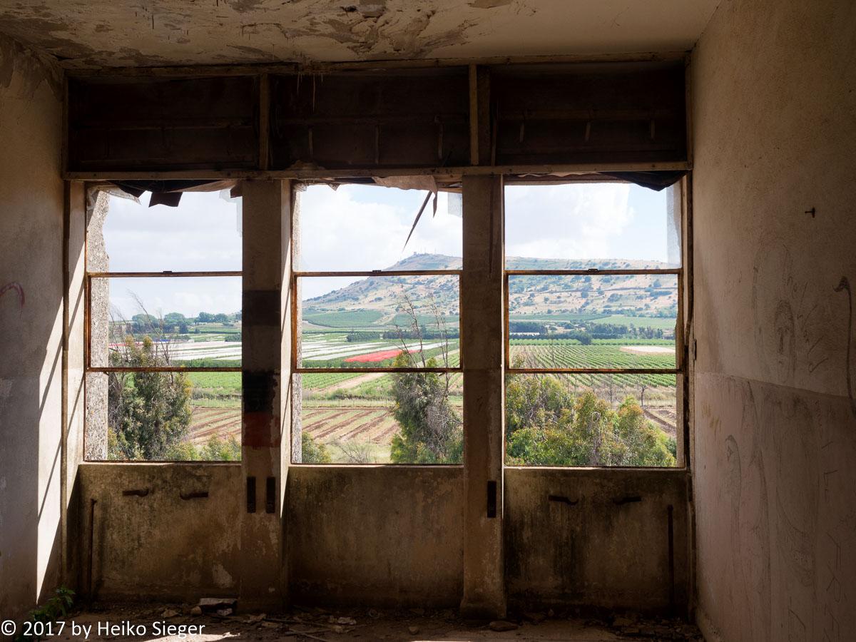 Blick aus dem ehemaligen syrischen Hauptquartier